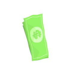 us american dollar money bills cartoon vector image