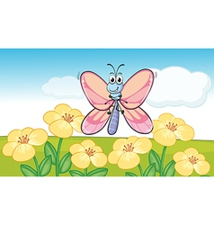 A flying butterfly vector image