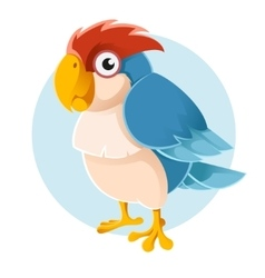 blue parrot vector image vector image