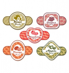 different labels vector image vector image