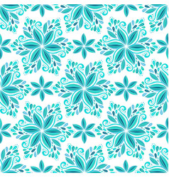 ornamental blue floral background seamless vector image vector image
