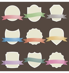 plaques with ribbons vector image