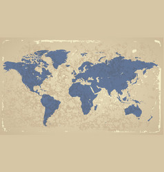 Retro-styled map of the World vector image vector image