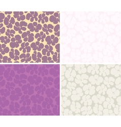 Seamless background with orchids vector image