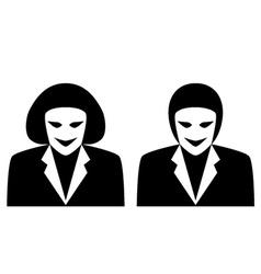 Stylish gender avatars - male and female symbol vector