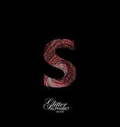 curly textured letter s vector image vector image