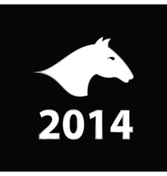2014 Year of the Horse vector image vector image