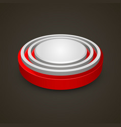alarm button on black background vector image vector image