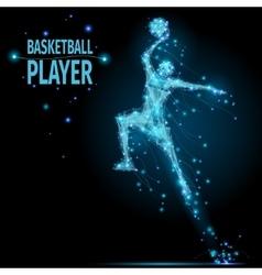 Basketball player polygonal vector image vector image