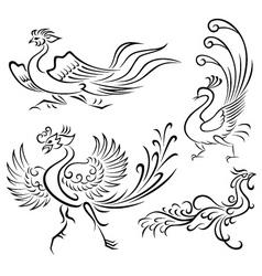 bird tattoo vector image