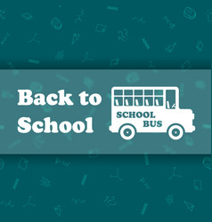 Design template for back to school vector