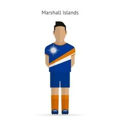 Marshall Islands football player Soccer uniform vector image vector image