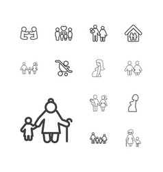 13 mother icons vector