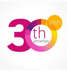 30 anniversary chart logo vector image