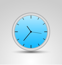 A blue clock vector