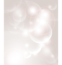 Abstract background with bubbles and light vector image