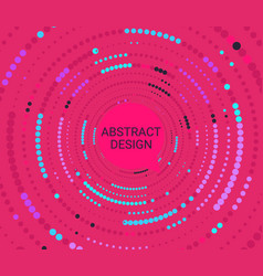 abstract colorful dotted circles vector image