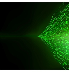 Abstract green energy design against dark EPS 10 vector