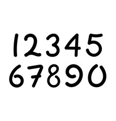 arabic numerals set 1-10 vector image