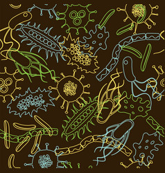 bacteria seamless pattern vector image