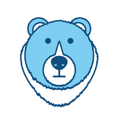 Bear cartoon face vector