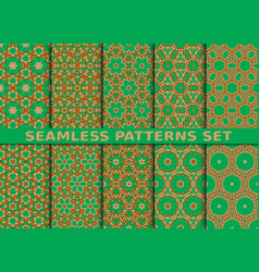 Beautiful colorful seamless patterns set vector