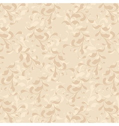 Beige vines vintage floral seamless pattern vector