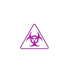 Biohazard sign or icon vector
