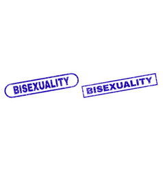 Bisexuality blue rectangle seal with unclean vector