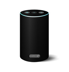 Bluetooth speaker object on white background vector