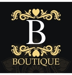 Boutique with ornament design vector