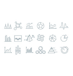 Business graph icon trending charts simple linear vector