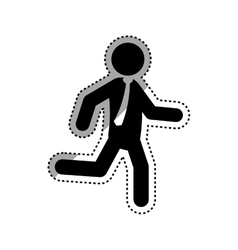 Businessman running pictogram vector