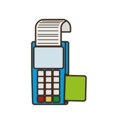 cartoon payment credit card dataphone shop vector image