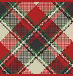 check fabric texture pixel seamless pattern vector image