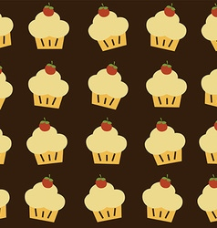 cherry top cupcake theme vector image