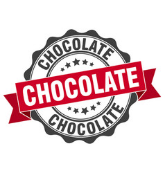 Chocolate stamp sign seal vector