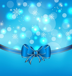 Christmas glowing packing with bow vector image vector image