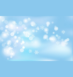 christmas new years chaotic blur bokeh of light vector image