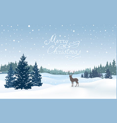 christmas snowy background snow winter landscape vector image