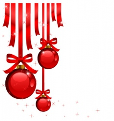 Christmas tree decorations vector