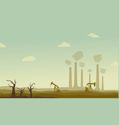 Clean forest for construction industry vector