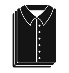 Clean shirts icon simple style vector