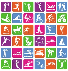 collection with 36 olympic sport icons vector image vector image