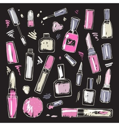 Cosmetics Makeup set vector image