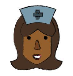 cute nurse cartoon vector image