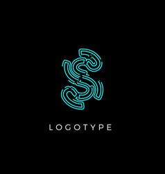 Cyber letter s for digital technology logo concept vector