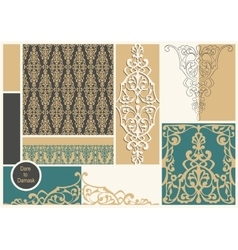 Damask mood board vector