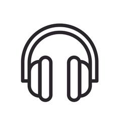 Earphone audio line style icon vector