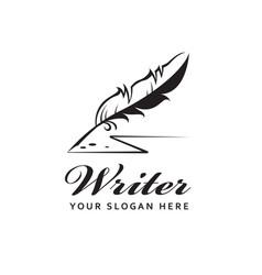 Feather pen icon vector